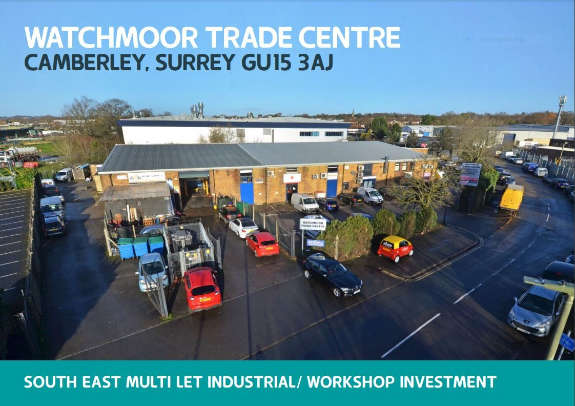 Completed sale of Watchmoor Trade Centre, Camberley