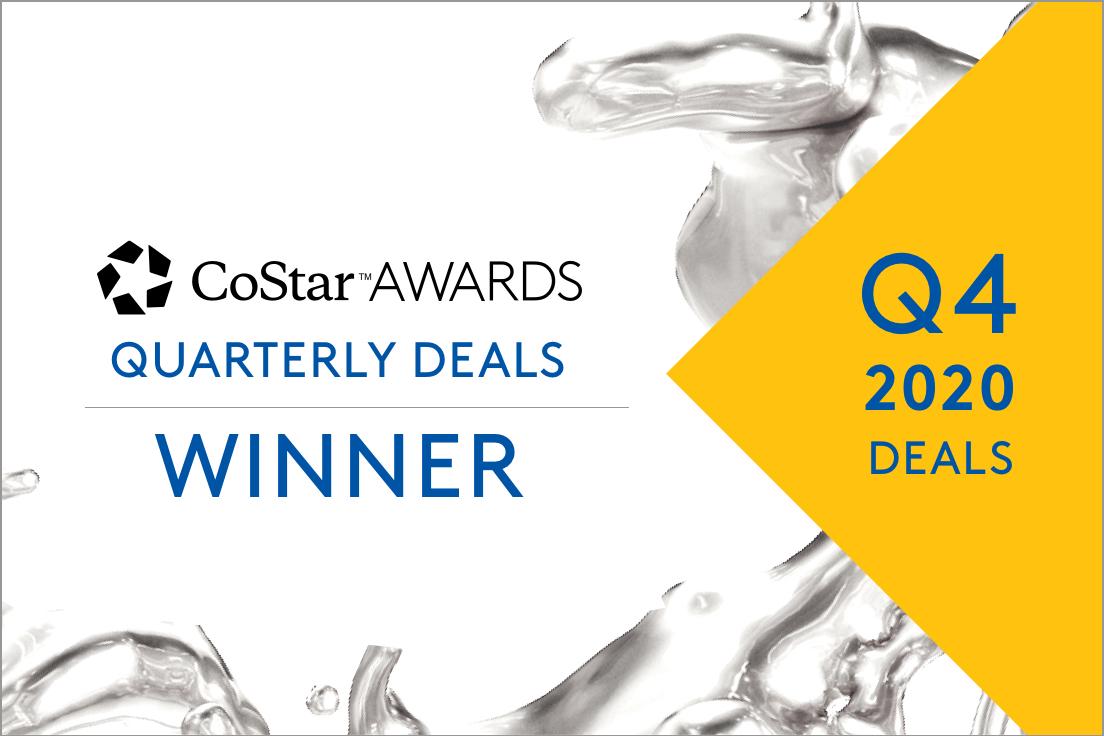 Q4 2020 CoStar Awards Quarterly Deals winner.