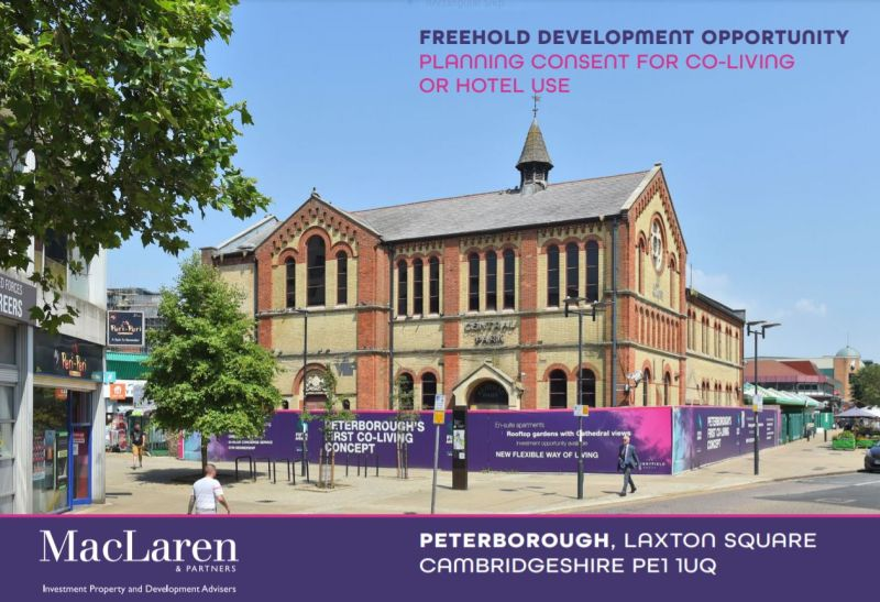 Freehold development opportunity in the centre of Peterborough