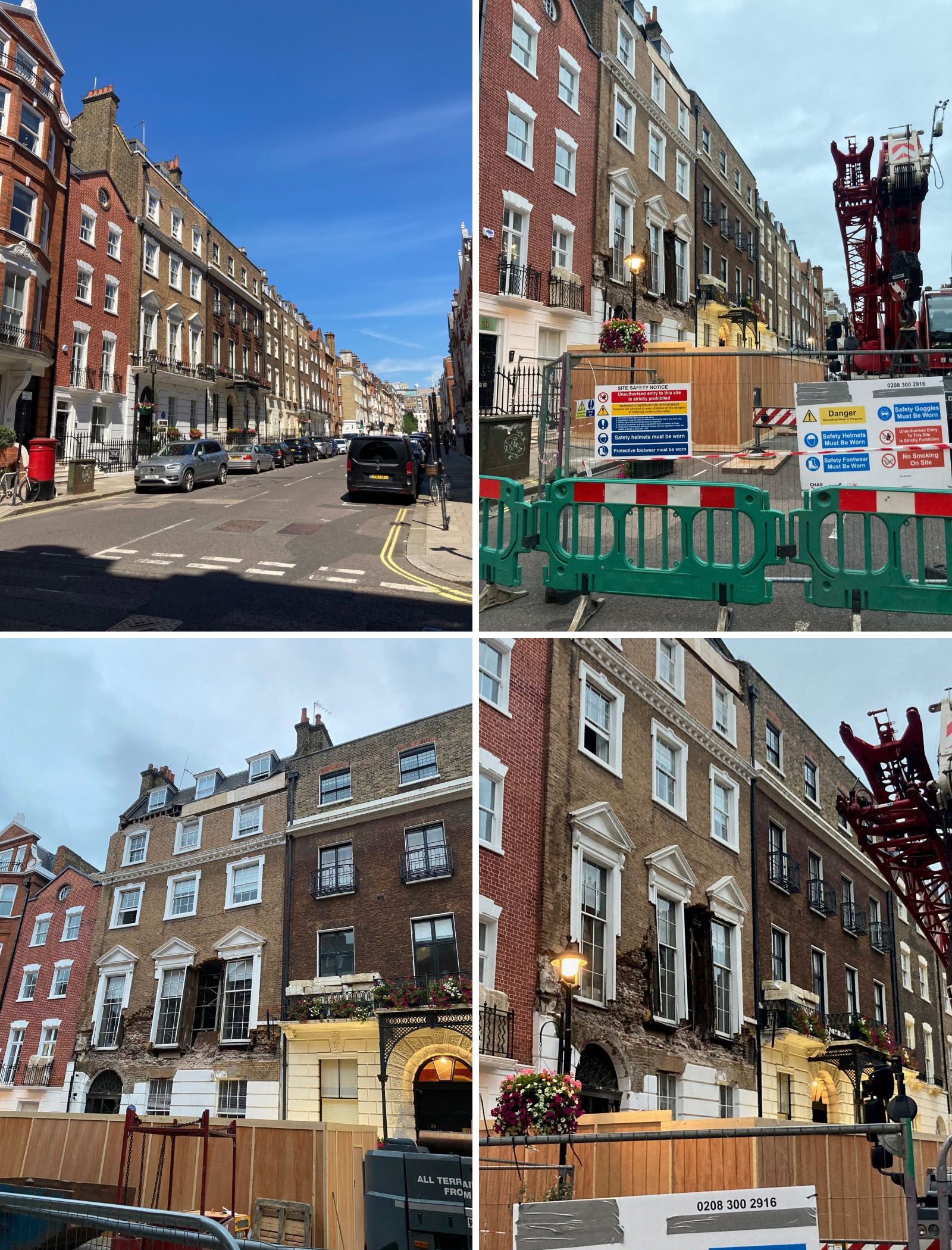 Queen Anne Street collapse